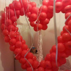 בולי בלון-סידור חדר-לבבות