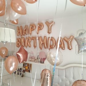 בולי בלון-סידור חדר-יום הולדת